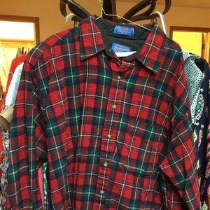 Pendleton Men's Wool Plaid Shirt XL Boyd Tartan
